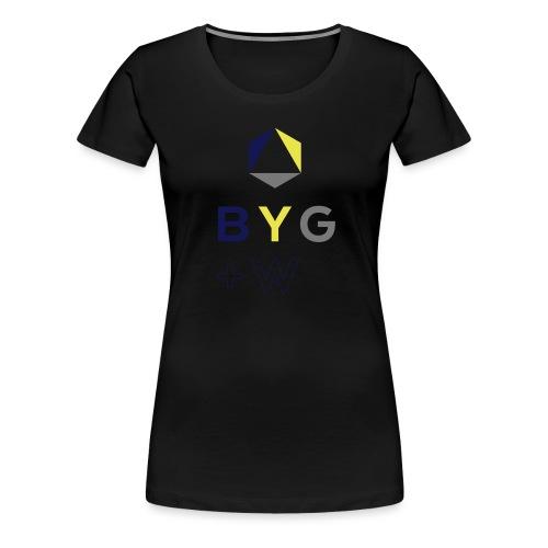 BYG+White Logo Hoodie - Women's Premium T-Shirt