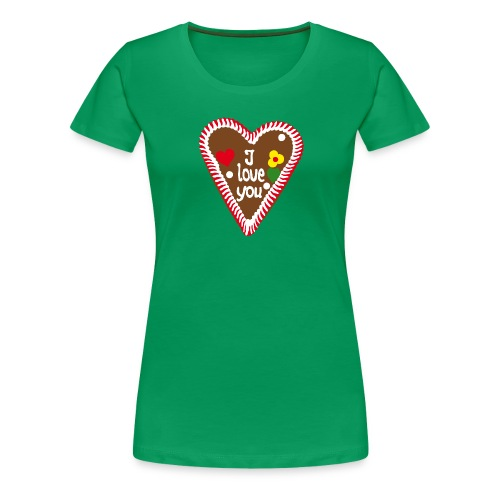 Lebkuchenherz I love you - Frauen Premium T-Shirt