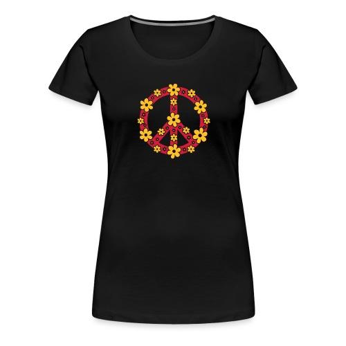 Peace Frieden Symbol Hippie Sommer Freiheit Liebe - Frauen Premium T-Shirt