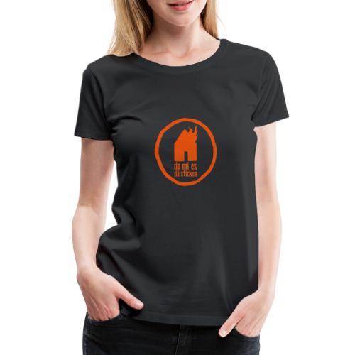 sticken kreis - Frauen Premium T-Shirt