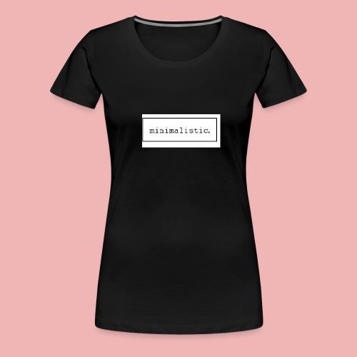 minimalistic desing GROSS - Frauen Premium T-Shirt
