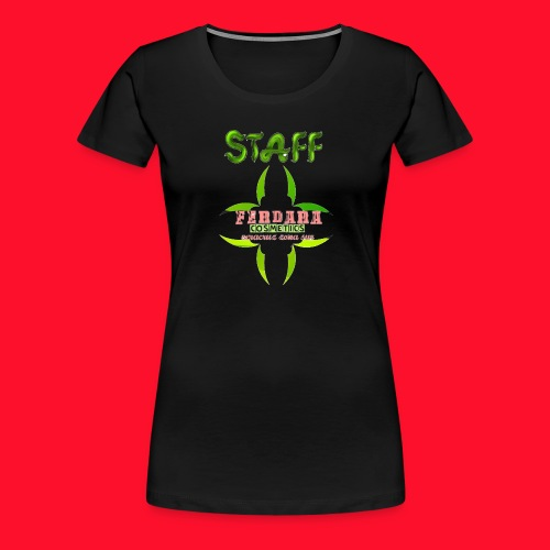 logo_de_ferdara_cosmetics_veracruz_zona_sur. - Camiseta premium mujer