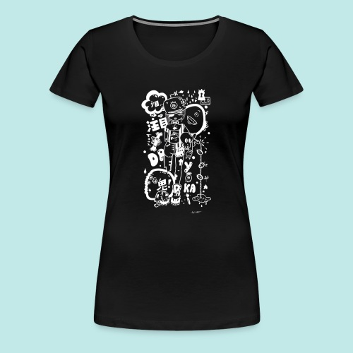 Fille manga dark avec monstres rock kawaii Blanc - T-shirt Premium Femme
