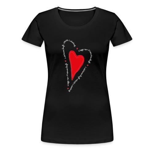 Ullihunde- Herz - Frauen Premium T-Shirt