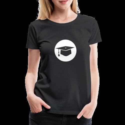 Doktorhut Kreis Geschenkidee Promotion Examen - Frauen Premium T-Shirt