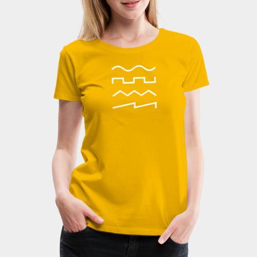 SIN - SQR - TRI - SAW - Frauen Premium T-Shirt