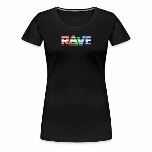 Rave Neon Rainbow Psy Text Techno Family - Frauen Premium T-Shirt