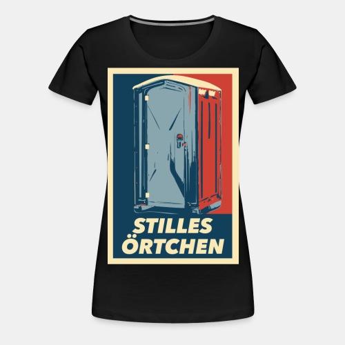 Stilles Örtchen - Frauen Premium T-Shirt