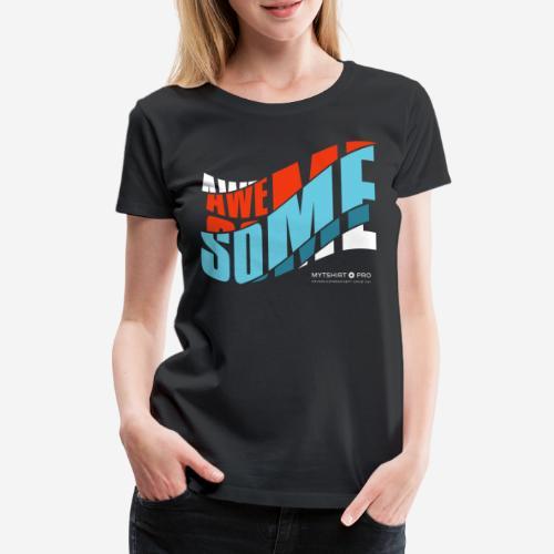 fantastische T-Shirt Design Diagonale - Frauen Premium T-Shirt