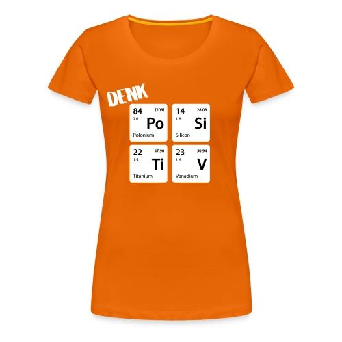 Denk positiv - in Elementen - Frauen Premium T-Shirt