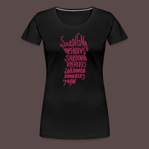 Sardegna, Lingue del mondo - Maglietta Premium da donna