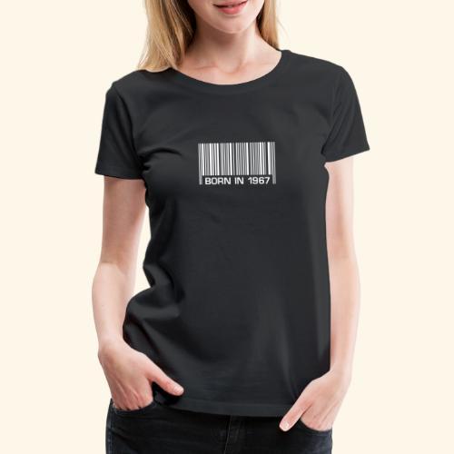 born in 1967 50th birthday 50. Geburtstag barcode - Frauen Premium T-Shirt