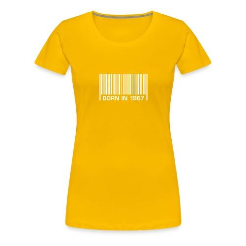 born in 1967 50th birthday 50. Geburtstag barcode - Women's Premium T-Shirt