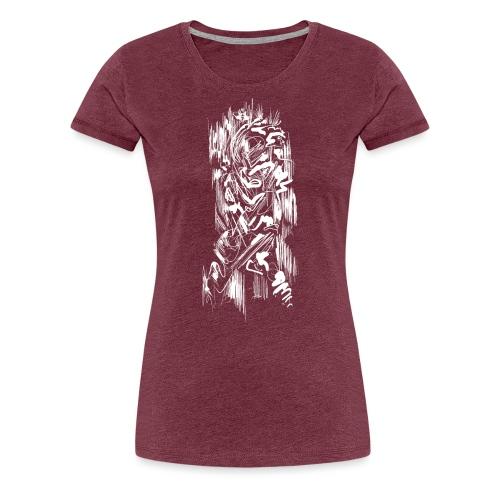 Samurai / White - Abstract Tatoo - Women's Premium T-Shirt