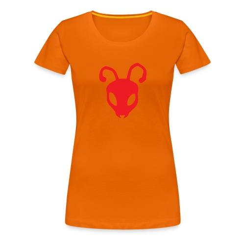 ANTBOY LOGO rød u tekst - Dame premium T-shirt