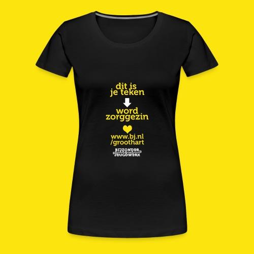 groothart5 - Vrouwen Premium T-shirt