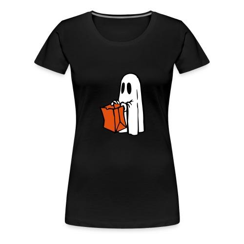 Geist mit Tüte 3farbig - Frauen Premium T-Shirt