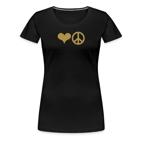 Love and Peace - Frauen Premium T-Shirt