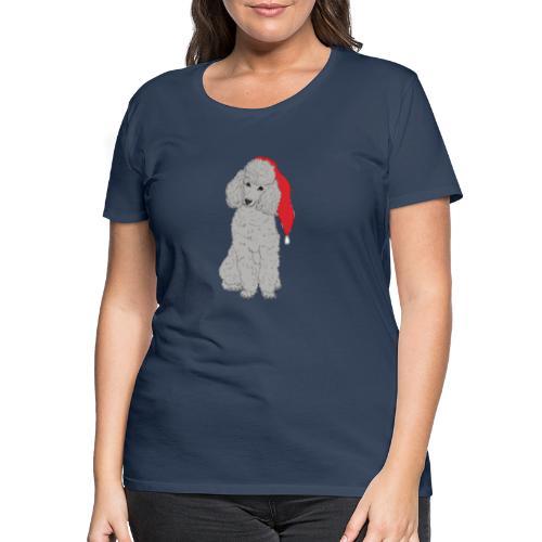 Poodle toy G - christmas - Dame premium T-shirt