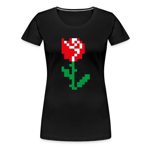Rose Pixel - T-shirt Premium Femme
