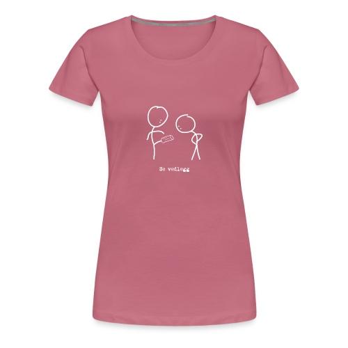 se vedlegg kvit png - Premium T-skjorte for kvinner