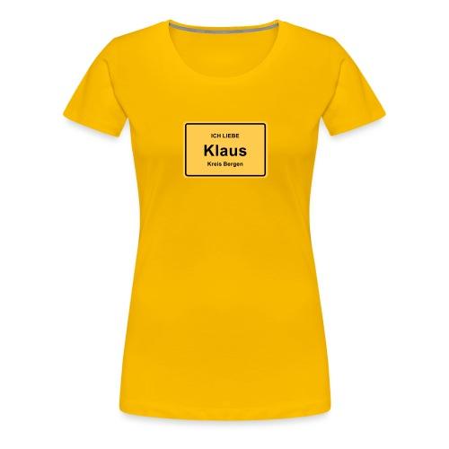 Ortsschild Klaus - Frauen Premium T-Shirt