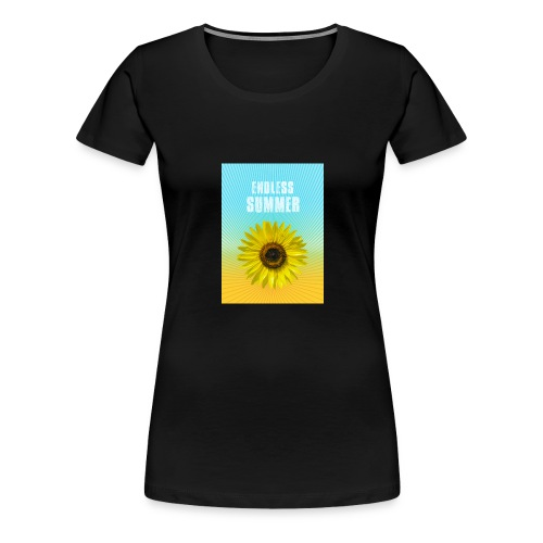 sunflower endless summer Sonnenblume Sommer - Women's Premium T-Shirt