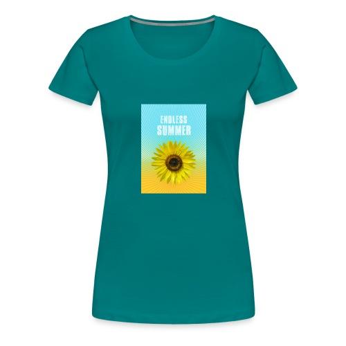 sunflower endless summer Sonnenblume Sommer - Women's Premium T-Shirt