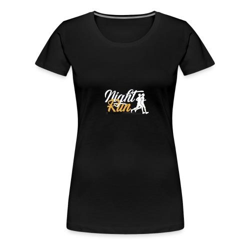 NIGHT RUN LOGO vec - T-shirt Premium Femme