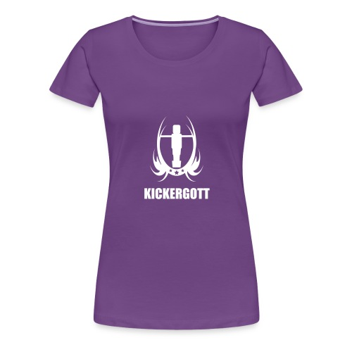 Tischfussball kickergott - Frauen Premium T-Shirt