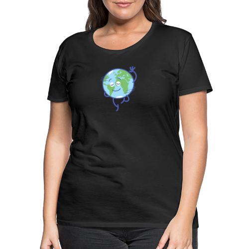 Nice planet Earth rotating graciously - Women's Premium T-Shirt