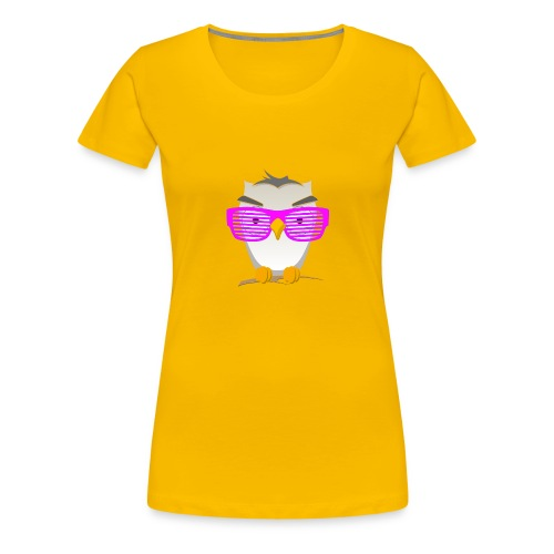 Eule Wald Vogel coole Nerdbrille Geek Big Bang Uhu - Women's Premium T-Shirt
