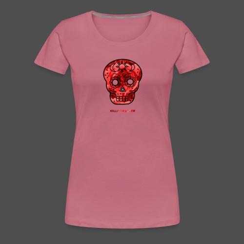 Skull Roses - Koszulka damska Premium