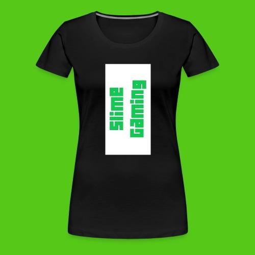 white phone logo jpg - Women's Premium T-Shirt