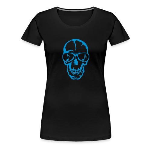 tete de mort crane lunette soleil 3 - T-shirt Premium Femme
