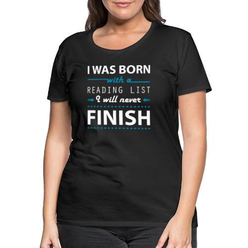 0192 Leseliste   Buchliste   Bücher   Buchwurm - Women's Premium T-Shirt
