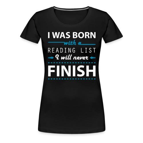 0192 Leseliste | Buchliste | Bücher | Buchwurm - Women's Premium T-Shirt