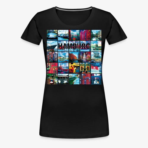 03 Faszination Hamburg Collage - Margarita-Art - Frauen Premium T-Shirt
