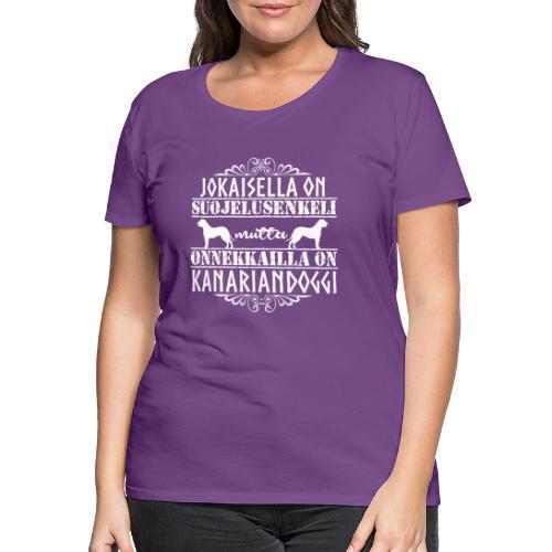 Kanariandoggi Enkeli - Naisten premium t-paita