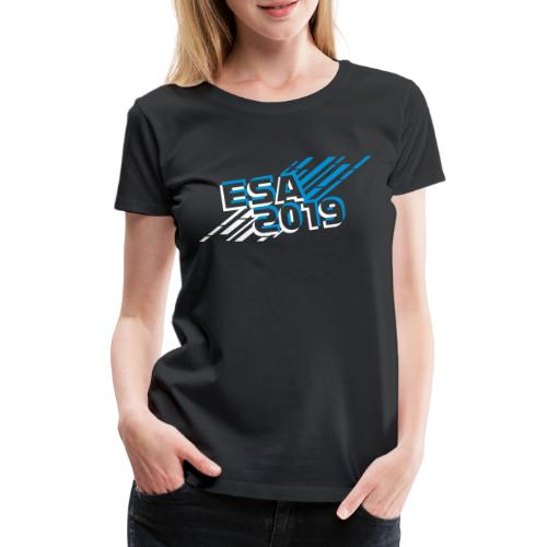 ESA Winter 2019 Icy Blue Logo - Women's Premium T-Shirt
