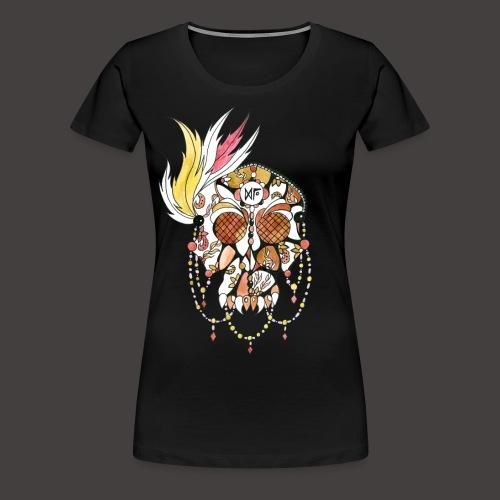 Crane dentelle Feu fond noir - T-shirt Premium Femme