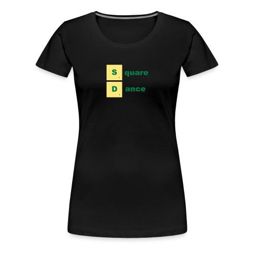 square dance scabble - Frauen Premium T-Shirt