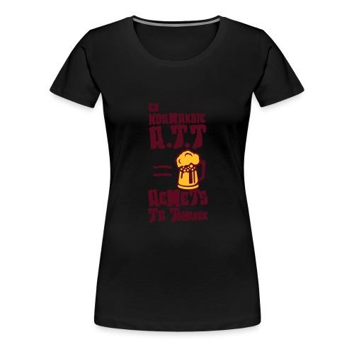 normandie rtt remet tournee biere alcool - T-shirt Premium Femme