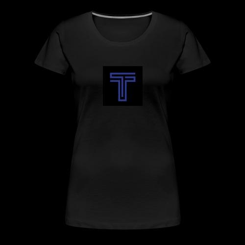 YT logo design - Women's Premium T-Shirt