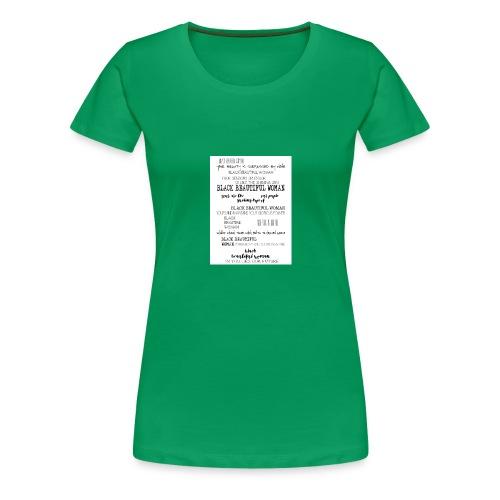 Beautiful Black Woman - Women's Premium T-Shirt