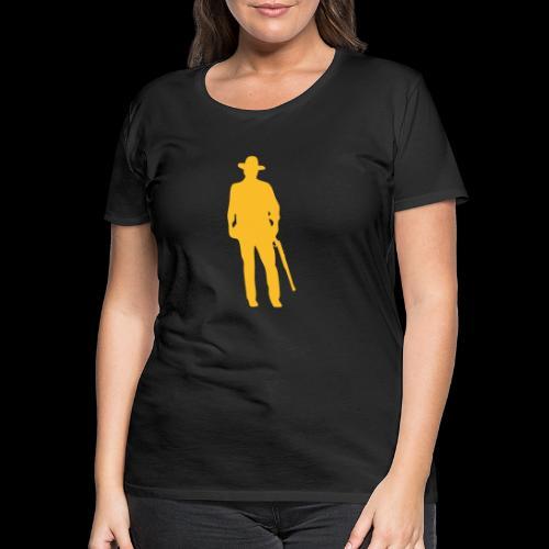 Vaquero del Oeste / Silueta - Camiseta premium mujer