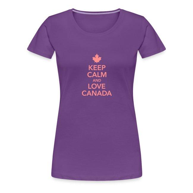 keep calm and love Canada Maple Leaf Kanada