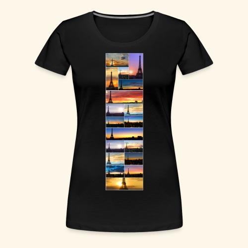 Tour Eiffel réveils - T-shirt Premium Femme