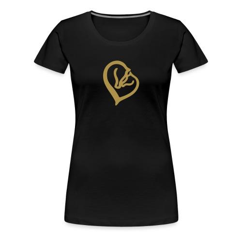 Ein Herz für Pferde - Frauen Premium T-Shirt