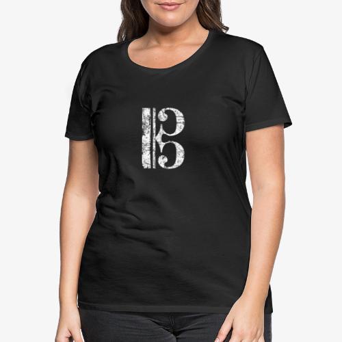 C-Schlüssel für Bratsche, Viola, Cello und Posaune - Frauen Premium T-Shirt